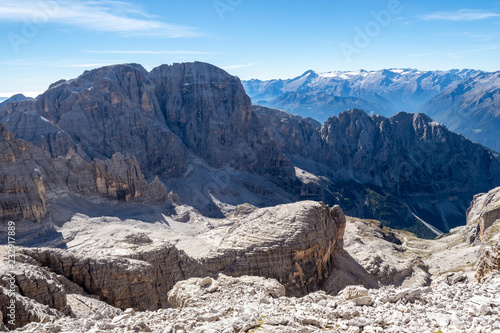 Foto op Canvas Bergen View of the mountain peaks Brenta Dolomites. Trentino, Italy