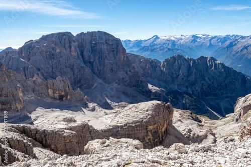 Spoed Foto op Canvas Bergen View of the mountain peaks Brenta Dolomites. Trentino, Italy