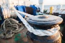 Mooring Bollard On A Ship