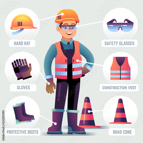 Worker with safety equipment Wallpaper Mural