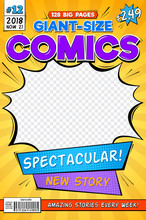 Comic Book Cover. Vintage Comi...