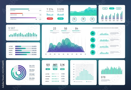 Photo  Infographic dashboard template