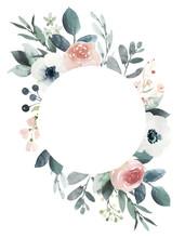 Watercolor Wedding Floral Fram...