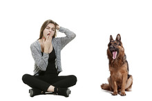 The Yawning Bored Woman And He...