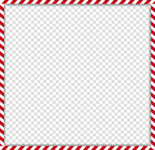 Square Candy Cane Frame With R...