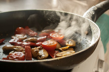 Mushrooms & Tomatos Sizzling I...
