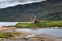Burgruine Ardvreck Castle Auf Einer Halbinsel Am See Loch Assynt