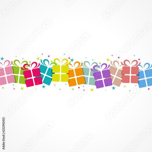 Valokuva  cadeaux colorés