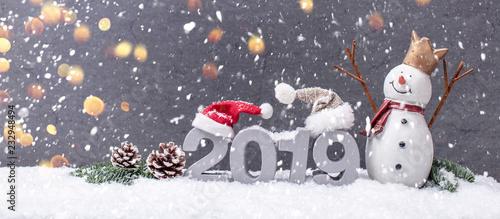 Photographie  Wintergrüße Wünsche Hintergrund 2019 Grußkarte