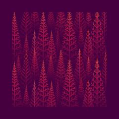 Fototapeta Abstrakcja Pine tree forest illustration