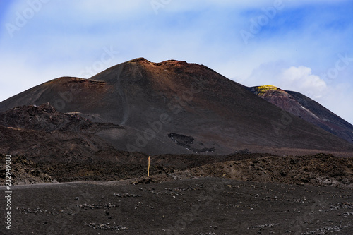 Deurstickers Grijze traf. Volcano Etna in Sicily, Italy