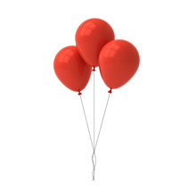 Bunch Of Red Glossy Balloons I...