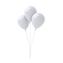 Bunch Of White Glossy Balloons...