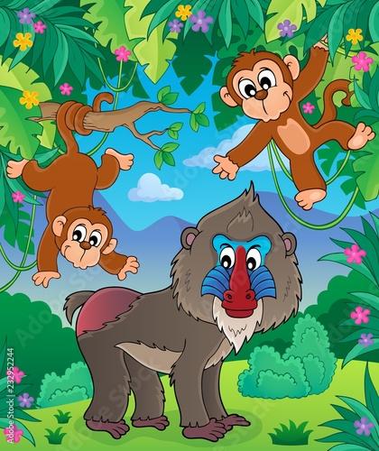 Staande foto Voor kinderen Monkey theme image 2