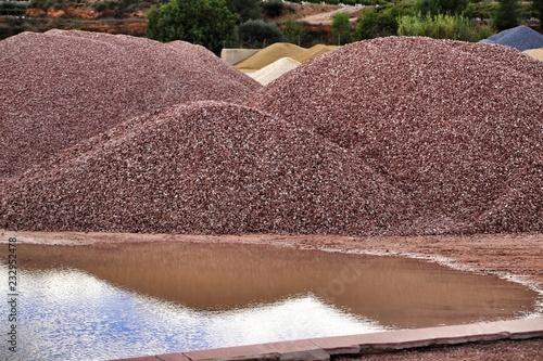 Fotografia, Obraz  Colorful construction aggregate mountains in Spain