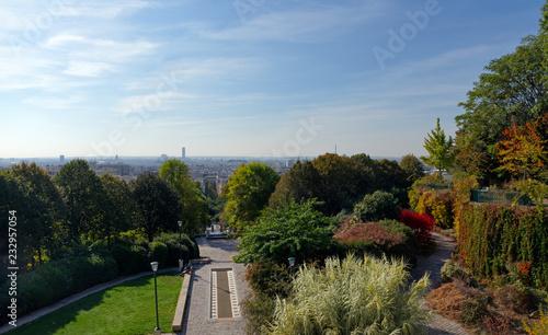 Papiers peints Paris The Belleville park panorama in Paris city