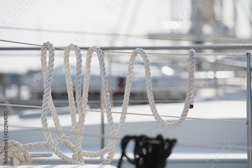 Fotografiet  Cordage sur un bateau