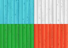 Color Wood Texture Background Set