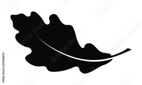 Obraz Oak leaf graphic icon. Oak leaf sign isolated on white background. Flat style. Modern pictogram for web graphics. Vector illustration - fototapety do salonu