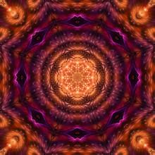 Abstract Digital Kaleidoscope Background, Beautiful Design