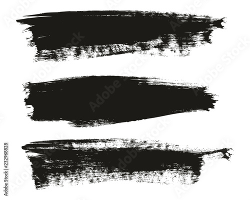 Fotografie, Obraz  Calligraphy Paint Brush Background High Detail Abstract Vector Background Set 57
