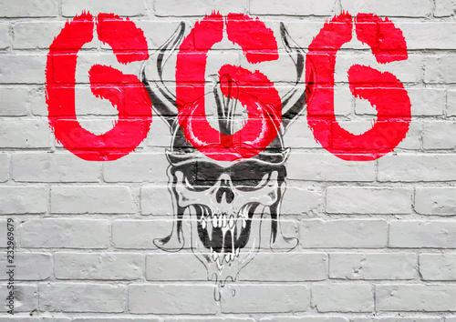 Graffiti, l'apocalypse Wallpaper Mural