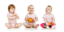 Group Of Babies With Musical T...