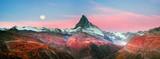 Fototapeta Natura - Matterhorn slopes in autumn