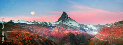 Fotografie, Obraz  Matterhorn slopes in autumn
