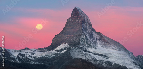 Obraz Matterhorn slopes in autumn - fototapety do salonu