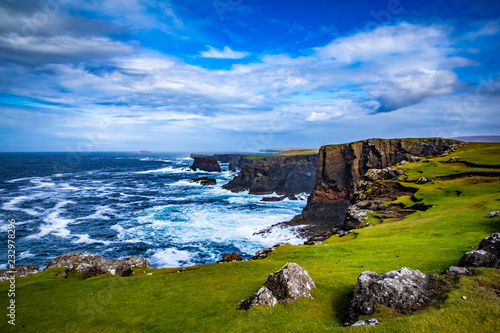 Fotografie, Tablou  Beautiful View at Shetlands