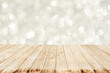 Wooden with Abstract background bokeh diamond and effect lighting for design