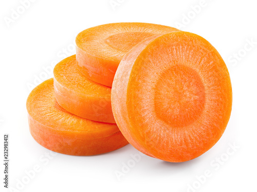 Fotografering Carrot slices