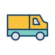 Van Transport filled two Color Icon
