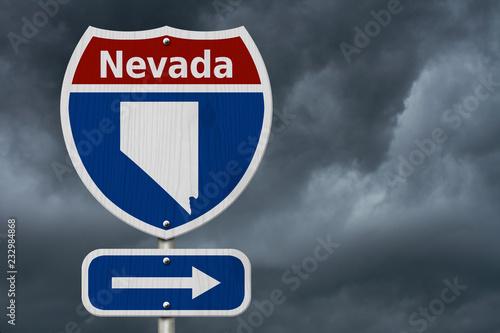 Spoed Foto op Canvas Verenigde Staten Road trip to Nevada