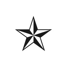 Star Compass Rose Graphic Design Template Vector Illustration