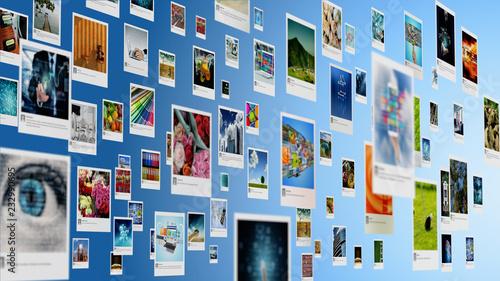 Fototapeta Photography and image sharing concept on Internet obraz na płótnie