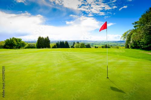 Sunny golf course
