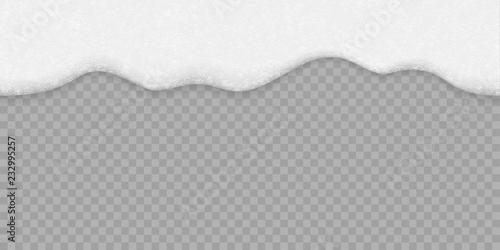 Valokuvatapetti Soap bubble foam white background