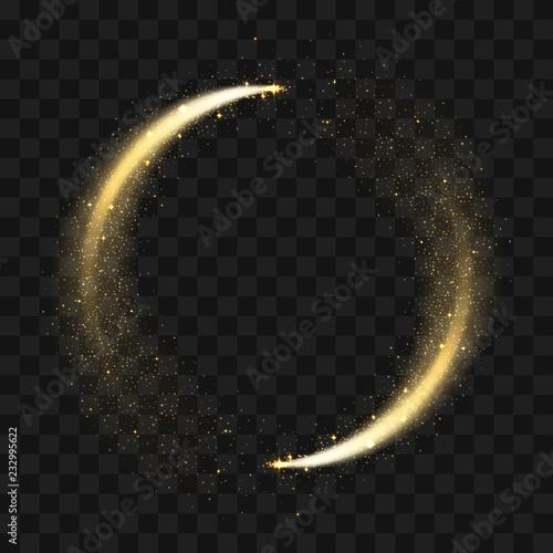 Fototapeta Gold sparkling glitter circle