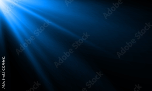 Obraz Blue light ray or sun beam vector background. Abstract neon blue light flash spotlight backdrop with sunlight shine background - fototapety do salonu