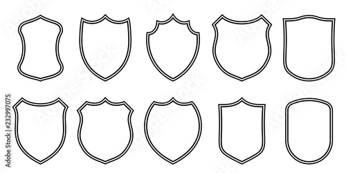 Valokuvatapetti Badge patches vector outline templates