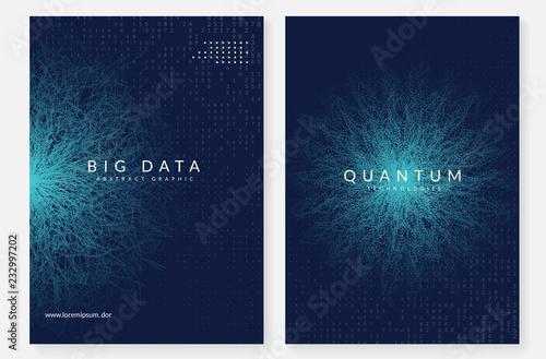 Fotografia  Quantum computing background