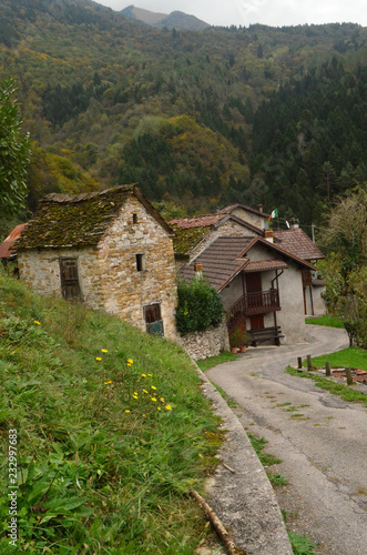 Fotografie, Tablou  Cute small village in beautiful  Dolomites Italy