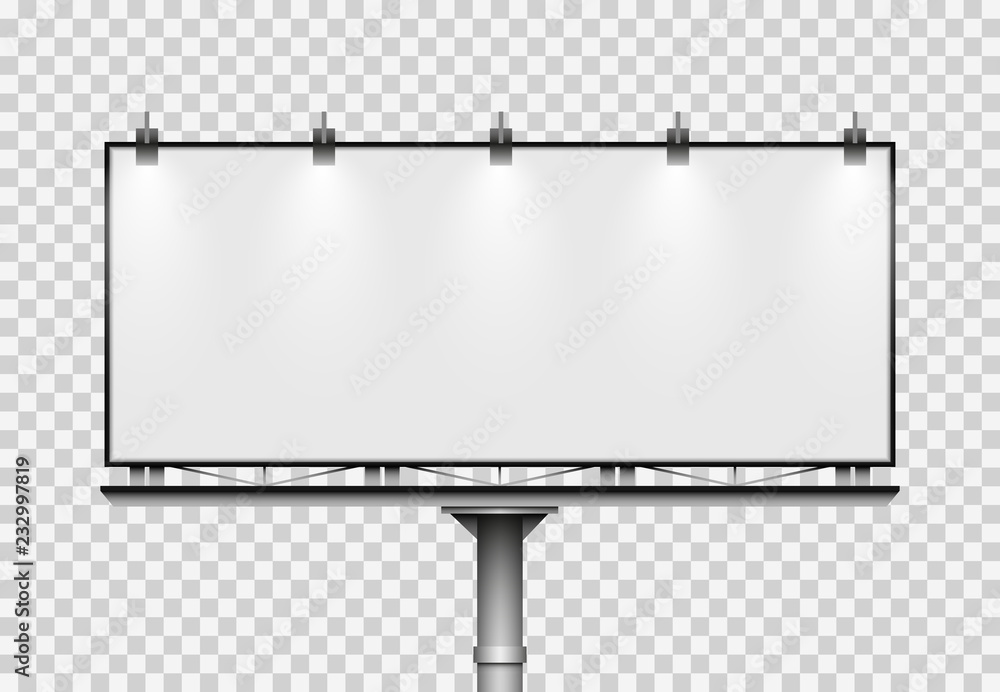 Fototapety, obrazy: Blank big billboard. Mockup for your advertisement and design