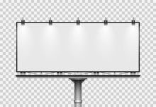 Blank Big Billboard. Mockup Fo...