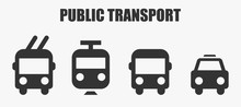 Public Transport Icons - Bus, ...