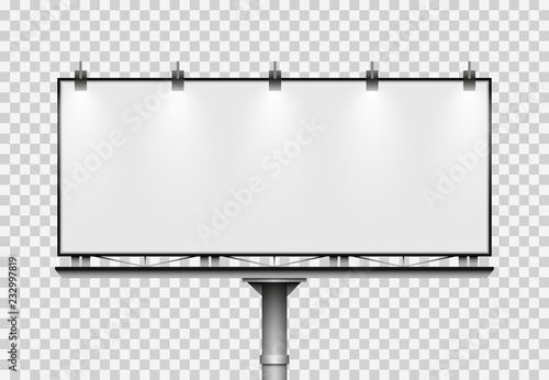 Fotografía  Blank big billboard. Mockup for your advertisement and design