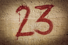 Number 23 On The Wall