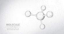 Molecule. Abstract Futuristic ...